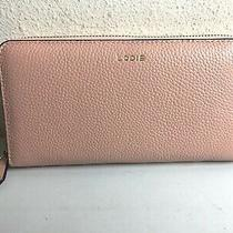 Lodis Blush Pink Leather Colleen Zip Around Wallet  New Photo