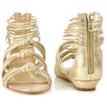 Loeffler Randall Enid  Womens Shoes Gold Sandal Size 8 New  Photo