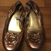 Loeffler Randall for Target Gold Ballet Flats Shoes Size 6 Photo