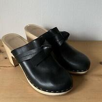 Loeffler Randall Ooak Black Leather Mule With Knot Detail Sz 7 Photo
