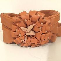 Loeffler Randall Tan Leather Floral Rosette Tie Belt Photo