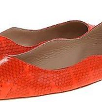 Loeffler Randall Women's Milla Ballet Flat Orange  Size 7 B Photo