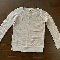 Loft Womens Tunic Sweater Size Xl Blush Pink 100% Cotton Round Neck Long Sleeves Photo