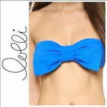 Lolli Blue Bow Strapless Bikini Top Size Xs Photo