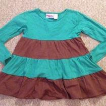Lolly Wolly Doodle Dress Girls 8/9 Green Brown Photo