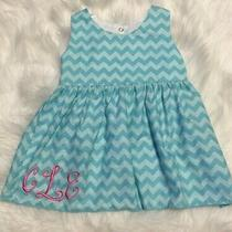 Lolly Wolly Doodle Girls Size 3t Lined Aqua Chevron Top Mono