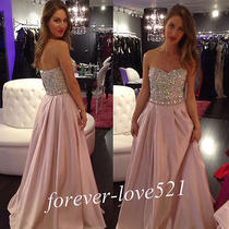 Long Blush Formal Evening Dress Prom Party Dress Bridesmaid Dresses Custom Size Photo