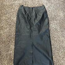 Long Leather Skirt Photo