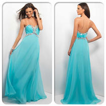 Long Prom Dresses Aqua Chiffon Bridesmaid Dress Evening Gown Sz46810121416 Photo