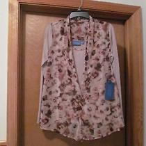 Long Sleeve Blouse Sm Simply Vera Wang Beige in Front Other Floral Nwt Photo