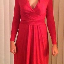 Long Sleeve Red Wrap Dress by Avon.  Never Worn Other Than by Model.  Size Med Photo