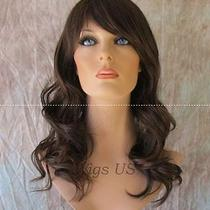 Long Wig Gentle Waves Heat Resistant Natural Black Auburn Human Blend Heat Ok Photo