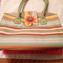 Longaberger Sisters Adult Booking Tote Sunflower Stripe Photo