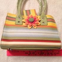 Longaberger Sisters Small Booking Tote Sunflower Stripe Photo