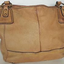 Look the Sak Brown Leather Large Modern Handbag Purse Shoulder Bag  Photo