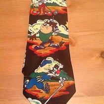 Looney Tunes Mania Golf Ball Club Tee Shoe Hat Sport Green Mens Neck Tie Novelty Photo