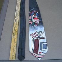 Looney Tunes Mania Touch Down Taz Neck Tie 57' Mens Gift Day Tv Football Novelty Photo