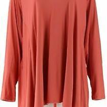 Lori Goldstein Rayon 230 Top W/handkerchief Hem-Coral Blush-Medium-A347471-New Photo