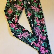 Lorna Jane Black & Multicolor Floral Full Length Leggings Excellent Size Xs Photo