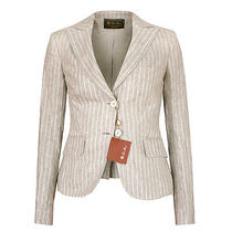 Loro Piana 2230 Fitted Striped Linen Rodeo Drive Parker Blazer Jacket 38/2 New Photo