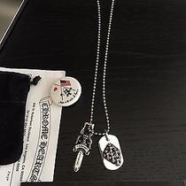 Los Angeles Pick Up Only  Chrome Hearts Cross Dog Tag Dagger Necklace Rare Photo