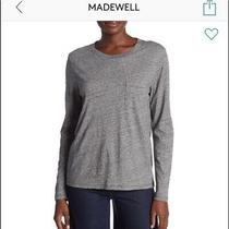 Lot 1 Nwt Brand New Madewell Long Sleeve Crew Tee Shirt . Size Xxs . Photo