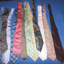 Lot 12 High End Ties Neckties. Christian Dior Oscar De La Renta R. Lauren J Crew Photo