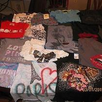 Lot 17 Junior Tee Shirts Size Xs Small Armani American Eagle Pink Junk Food Photo