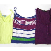 Lot 2 c&c California Alternative Splendid Yellow Purple Striped Tank Tops Size S Photo