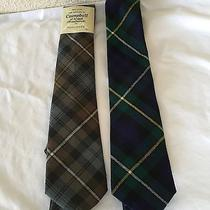 Lot 2 Campbell of Argyll Men's Ties 100%  Pure Wool Made in Scotland Gray Nwt Photo