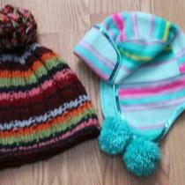 Lot 2 Girl's Hats Gap Abercrombie & Fitch Knit Hats No Size 7-10 New Photo