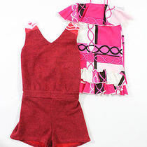Lot 2 Girl's Nwt Flowers by Zoe Gypsy 05 Pink Red Dress Romper Sz 18m 8 Photo