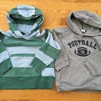 Lot 2 Mini Boden Size 2-3 Striped & Gap 4football Pullover Hooded Sweatshirts Photo