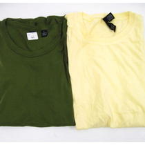 Lot 2 New Alternative Apparel Green Yellow Short Sleeve Cotton T-Shirts Tops L Photo