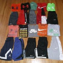 Lot 20 Boy's Under Armour Jordan Nike Dri-Fit Shirts Athletic Shorts Med/ Ymd Photo