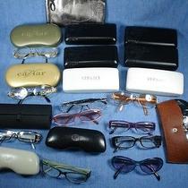 Lot 23 Ladies Vintage Eyeglasses  Cases Versace Cazel Vogue Caviar Safilo  Photo