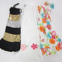 Lot 3 Aqua Doodles Designer Girls Black Metallic Gold White Dresses Sz 4 Photo