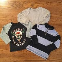 Lot 3 Baby Gap Boys Long Sleeve T-Shirts Pull Over Perfect Classic Size 4 Photo
