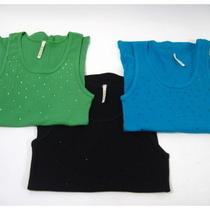 Lot 3 d.r.l.a. Green Black Aqua Blue Cotton Tank Tops Sz L Photo