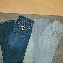 Lot 3 Pair Womens  Hudson Jeans. Straight Leg. Size 27 Euc Only 1 Pair Show Worn Photo