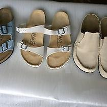 Lot 3 Pairs of Birkenstocks Made in Germany High End Sandals & Slip On Photo