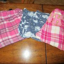Lot 3 Pairs Plaid Flannel Pajama Pj Lounge Sleep Pants S Victoria's Secret Pink  Photo