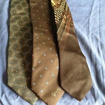 Lot 3 Vintage High End Designer Neckties  Valentino Givenchy Ysl Photo