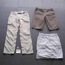 Lot 3 Womens Sz 8 Hiking Pants Capri Skirt- Columbia Grt Eddie Bauer Photo
