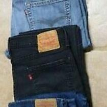 Lot 4 Levis 514 Straight Fit Jeans Mens 36 X 34 Brown/light and Dark Blue/black Photo