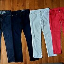 Lot 4 Pair Denim Jeans Juniors Sz 01&2 Ann Taylor Loft Gap Designer Nwot & Euc  Photo
