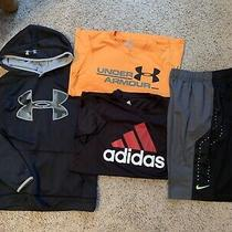 Lot 4 Under Armour Boys Yl Hoodie Adidas Tshirt Nike Short L Photo