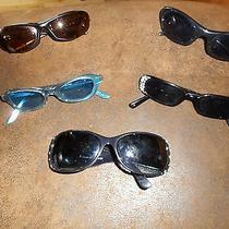 Lot 5 Designer Smith Fossil Scott Sunglasses Sliders Black Glamour Rhinestones Photo