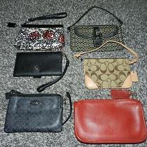 Lot 6 Coach 100% Authentic Wallets & Mini Clutch Wristlets Signature C Op Art  Photo