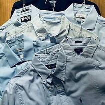 Lot 7 Mens Button Down Dress Shirts Long Slv Sz M/s Express J Crew R. Lauren Etc Photo